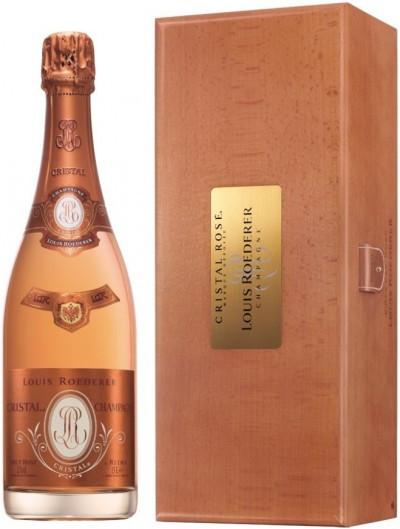"Шампанское ""Cristal"" Rose AOC, 2009, wooden box, 1.5 л"
