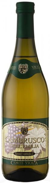 """Игристое вино Contri Spumanti, """"Corte Viola"""" Lambrusco dell'Emilia Bianco Amabile IGT"""
