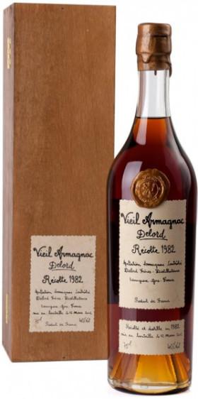 Арманьяк Delord, Armagnac Millesime, 1982, gift box, 0.7 л