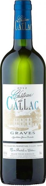 "Вино ""Chateau de Callac"" Blanc, Graves AOC, 2012"