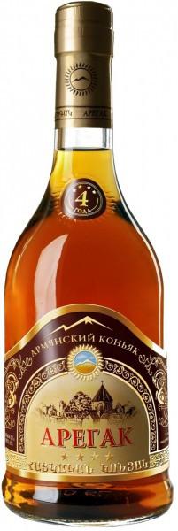"Коньяк Armenian Cognac ""Aregak"" 4 Stars, 0.5 л"