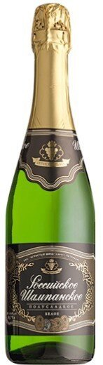 """Игристое вино """"Rossiyskoe Champagne"""" Semi-Sweet"""