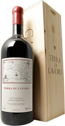 "Вино Galardi, ""Terra di Lavoro"", Roccamonfina IGT, 2013, wooden box, 1.5 л"