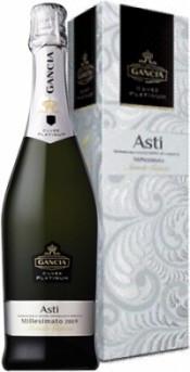 Игристое вино Gancia Cuvee Platinum Asti DOCG 2009 gift box