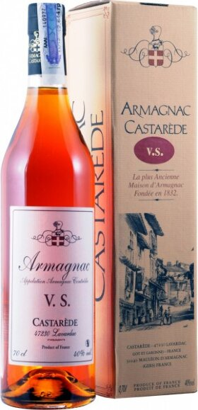 "Арманьяк Castarede, ""Castarede"" VS, Armagnac AOC, gift box, 0.7 л"