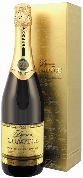 "Игристое вино ""Bourgeois"" Gold semidolce, gift box"