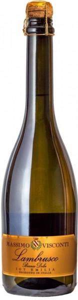 "Игристое вино ""Massimo Visconti"" Lambrusco Bianco Dolce, Emilia IGT"