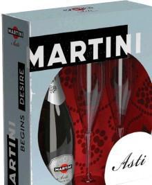 Игристое вино Asti Martini 2 glasses pack