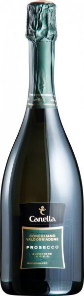 Игристое вино Canella, Prosecco Superiore Millesimato, Conegliano-Valdobbiadene DOCG, 2013