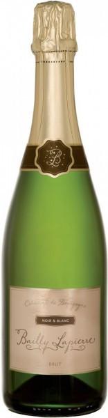 """Игристое вино Cave de Bailly, Bailly-Lapierre """"Noir & Blanc"""" Brut, Cremant De Bourgogne AOC"""