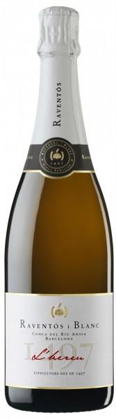 """Игристое вино Raventos i Blanc, """"L'Hereu"""" Reserva Brut, Cava DO, 2013"""