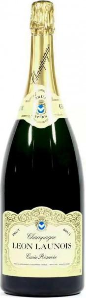"Шампанское Leon Launois, ""Cuvee Reservee"" Brut Blanc, Champagne AOC"