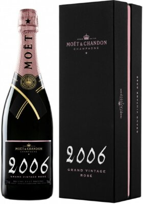 "Шампанское Moet & Chandon, ""Grand Vintage"" Rose, 2006, gift box"