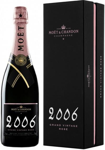 """Шампанское Moet & Chandon, """"Grand Vintage"""" Rose, 2006, gift box"""