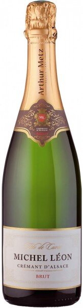 """Шампанское Arthur Metz, """"Michel Leon"""" Brut, Cremant d'Alsace AOC"""