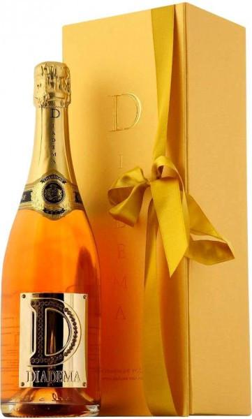 """Шампанское """"Diadema"""" Rose Brut, Champagne AOC, 2002, gift box"""