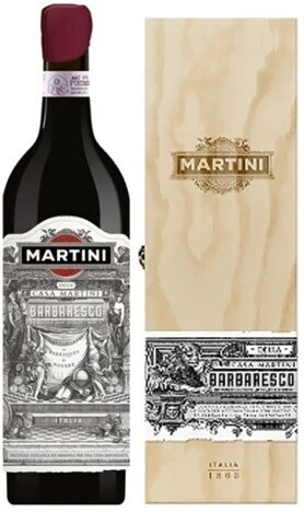 "Вино ""Martini"" Barbaresco DOCG, wooden box"