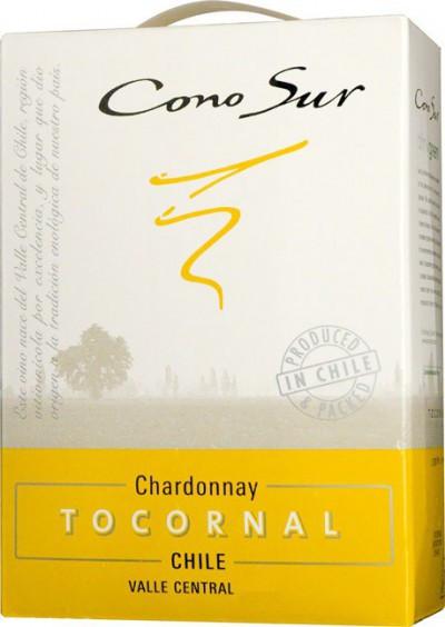 "Вино Cono Sur, ""Tocornal"" Chardonnay, Central Valley DO, 2011, 3 л"