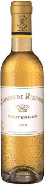 """Вино """"Les Carmes de Rieussec"""", Sauternes AOC, 2010, 0.375 л"""