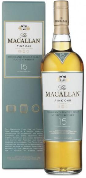 Виски Macallan Fine Oak 15 Years Old, with box, 0.7 л