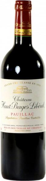 Вино Chateau Haut-Bages Liberal, Grand Cru Classe Pauillac AOC, 2006