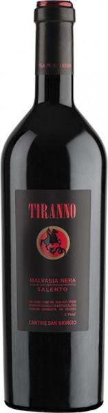 "Вино Cantine San Giorgio, ""Tiranno"" Malvasia Nera, Salento IGP, 2015"