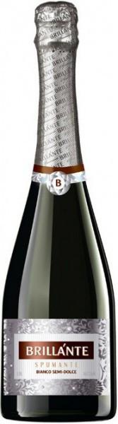 """Игристое вино """"Brillante"""" Bianco Semi-dolce"""