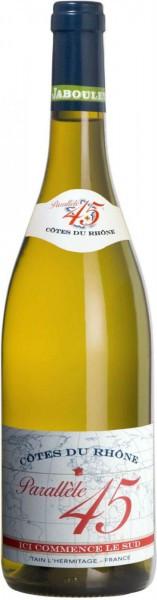 """Вино Paul Jaboulet Aine, """"Parallele 45"""" Blanc, Cotes du Rhone, 2014"""