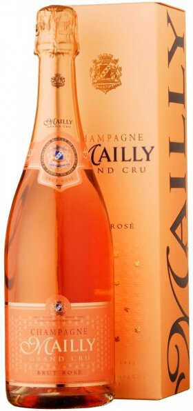 Шампанское Champagne Mailly, Brut Rose, gift box