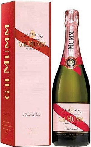 Шампанское Mumm Rose, gift box