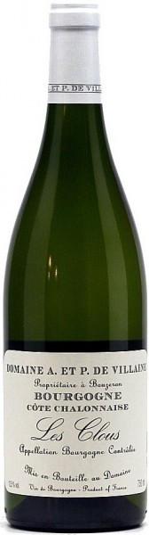 """Вино Domaine A. et P. de Villaine, Bourgogne Cote Chalonnaise """"Les Clous"""" AOC, 2011"""