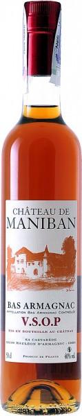 "Арманьяк Castarede, ""Chateau de Maniban"" VSOP, Bas Armagnac AOC, 0.5 л"