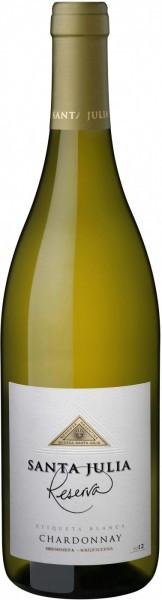 """Вино """"Santa Julia"""" Reserva, Chardonnay, 2012"""
