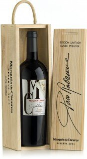 Вино Marques de Caceres, Cuvee Especial Paco Rabanne Reserva, 2005, wooden box