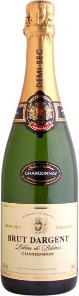 """Игристое вино """"Brut Dargent"""" Blanc de Blanc Chardonnay Demi Sec, 2010"""