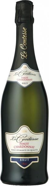 Игристое вино Le Contesse, Pinot Chardonnay Spumante Brut