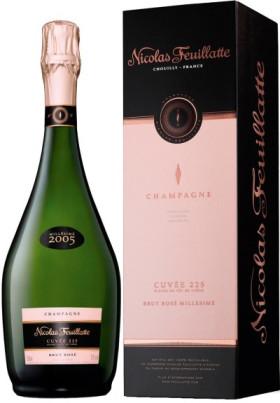 "Шампанское Nicolas Feuillatte, ""Cuvee 225"" Brut Rose, 2005, gift box"