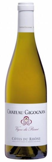 "Вино Cotes du Rhone AOC, ""Vigne du Prieure"" Blanc, Chateau Gigognan, 2010"