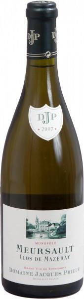 """Вино Domaine Jacques Prieur, Meursault """"Clos de Mazeray"""" Blanc, 2007, 0.375 л"""