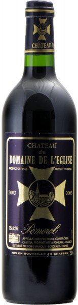 Вино Chateau du Domaine de l'Eglise, Pomerol AOC, 2003