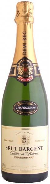 """Игристое вино """"Brut Dargent"""" Blanc de Blanc Chardonnay Demi Sec, 2013"""