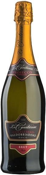 Игристое вино Le Contesse, Prosecco Brut, Conegliano Valdobbiadene DOCG
