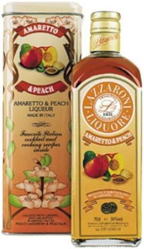 Ликер Lazzaroni, Amaretto Peach, gift box, 0.7 л