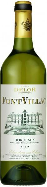 "Вино Maison Delor, ""FontVillac"" Blanc Sec, Bordeaux AOC, 2012"