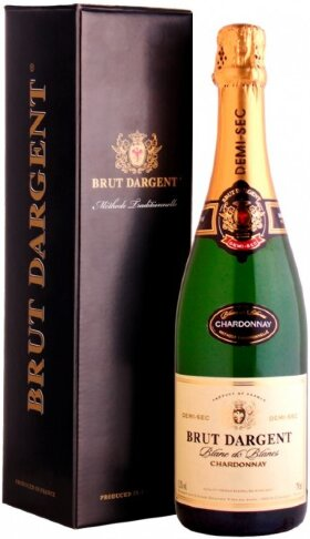 "Игристое вино ""Brut Dargent"" Blanc de Blanc Chardonnay Demi Sec, 2013, gift box"