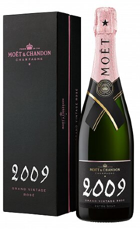 Шампанское Moet & Chandon Brut Vintage Rose 2009 gift box 0.75л