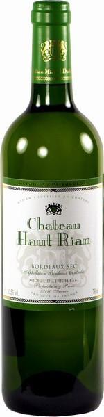 Вино Chateau Haut-Rian Bordeaux Blanc, Bordeaux AOC, 2012