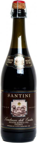 "Игристое вино ""Santini"" Rosso, Lambrusco dell'Emilia IGT"