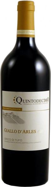 "Вино Quintodecimo, ""Giallo d'Arles"" Greco di Tufo DOCG, 2013"