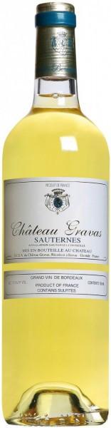 Вино Chateau Gravas, Sauternes AOC, 2012, 0.375 л